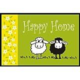 Eurographics DT-AHA1440 Deco Mats, Fuß/Sauberlaufmatte, waschbar, Happy Sheep, 40 x 60 cm