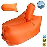 Havenfly 屋外インフレータブル ブラブラ ナイロン生地ビーチ ブラブラ便利な圧縮空気袋のたまり場豆袋ポータブル夢の椅子