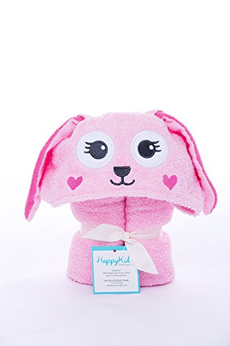Happy Kid Organics - Infant Hooded Towel - (Pink Bunny)