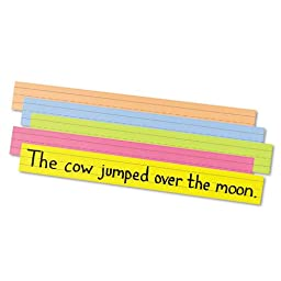 Pacon Sentence Strips, 24 x 3, Assorted Bright Colors, 100/Pack