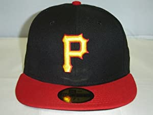 New Era MLB Pittsburgh Pirates Black Red 2Tone Cap 59Fifty NewEra by New Era
