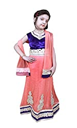 SEMTEX KIDS DESIGNER LEHENGA-ORANGE