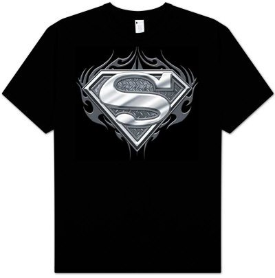  : Superman BIKER METAL Awesome Adult Gothic Black T-shirt Tee Shirt