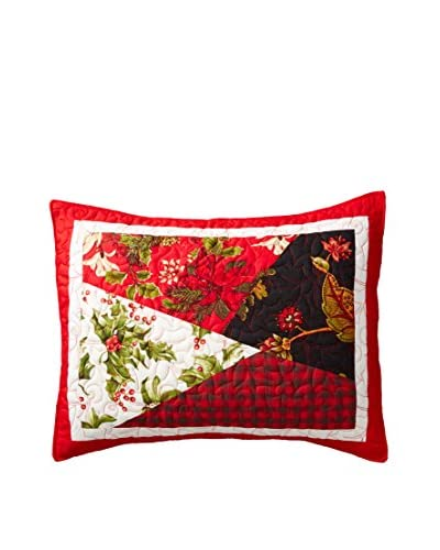 Holiday Patchwork Standard Sham, Red/Black/Multi