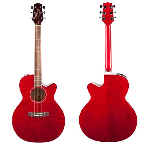 Takamine G Series EG440CSTRY NEX Acoustic Electric Guitar Transparent Red