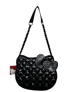 Hello Kitty Shoulder Bag Black Quilt 92