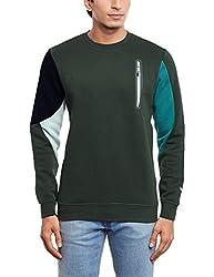 adidas Men's Crew Neck Cotton Sweatshirt (4055339200368_AB7998_S_Green)