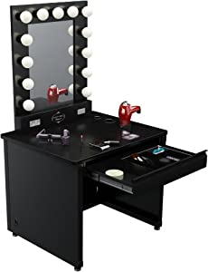 Broadway Lighted Vanity Mirror Review : Amazon.com - Broadway Lighted Vanity Desk 36 x30