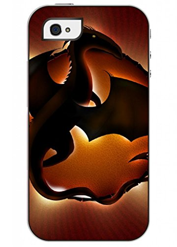 Ouo Fashion Design Iphone 4 4S 4G Case For Teen Girls With Clear Picture Of Baby Dragon
