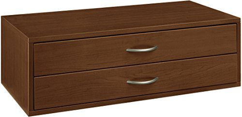Organized Living freedomRail 2 Drawer Double Hang OBox - Chocolate Pear