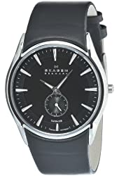 Skagen Men's 808XLSLB Stainless Steel Black Dial Watch