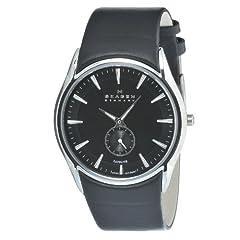 Skagen Men's 808XLSLB Stainless Steel Black Dial Watch