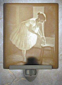 Ballet Dress Rehersal Flat Porcelain Lithophane Nightlight