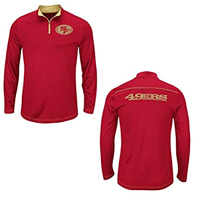 NFL San Francisco 49ers Crimson Quarter Zip Ready & Willing Thermabase Synthetic Jacket