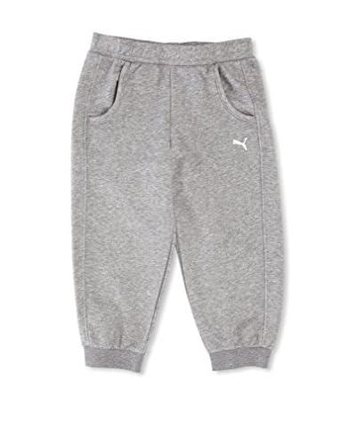Puma - Pantaloni felpati alla pescatora per bambina, grigio (Grigio erica), FR : 14 (Taille Fabrican...
