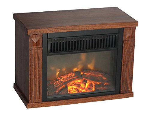 Comfort Lambency EMF160 1200-watt Hearth Portable Fireplace Wood Grain, Mini