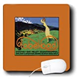 BLN Vintage Travel Posters and Luggage Tags - Tobelbad Austria Golf Resort Travel Poster with Woman Playing - MousePad (mp_170749_1)