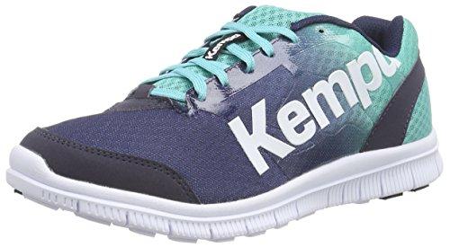 Kempa - K-Float, Scarpe Pallamano, unisex, Multicolore (Mehrfarbig (jade grün/dusk blau)), 42.5