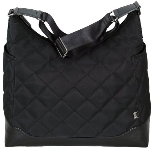 Oioi Hobo Baby Changing Bag - Black Diamond Quilted