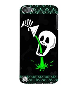 ColourCraft Funny Skull Design Back Case Cover for APPLE IPOD TOUCH 5