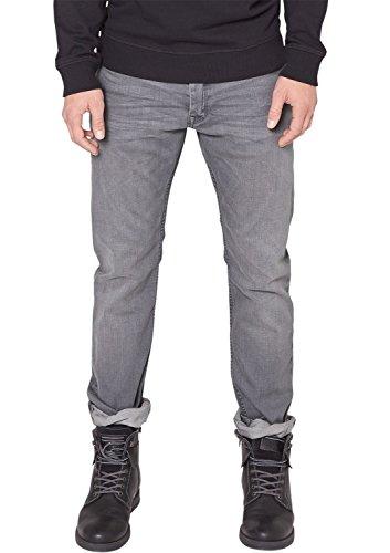 QS by s.Oliver Herren Straight Leg Jeans 40.411.71.2942, Gr. W38/L34, Grau (grey 94Y4)