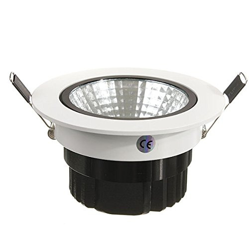 15W Dimmable Cob Led Recessed Ceiling Light Fixture Down Light Kit Color: Cool White