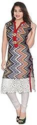 Namah Women's Cotton kurti(ND243-R _ XXL, Multicolor, XXL)