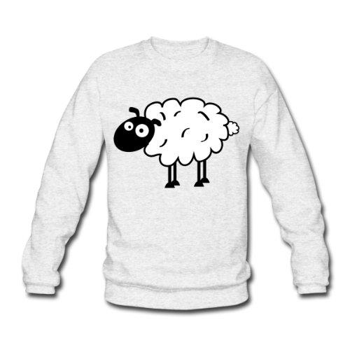 Spreadshirt, sheep, Men's Sweatshirt, salt & pepper, L