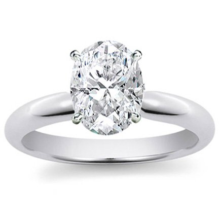 14k White Gold GIA Certified Cushion Cut Diamond