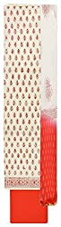 Royal Women's Cotton Unstitched Salwar Suit (Red and White )