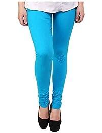Shree Balaji Best Quality Girls & Women's Cotton Lycra Leggings Free Size With Mayani (Sky Blue)