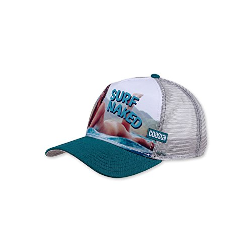 COASTAL - Surf Naked II (petrol/grey) - High Fitted Trucker Cap