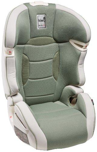 Kiwy 14003KW05B SLF23 Q-Fix - Seggiolino auto per bambini, gruppi 2/3 (15-36 kg) con adattatore Q-Fix per Isofix, certificato ECE, colore: Verde aloe