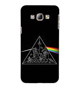 EPICCASE Prism rainbow Mobile Back Case Cover For Samsung Galaxy A8 (Designer Case)