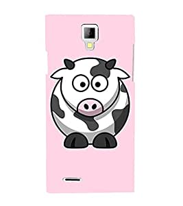 EPICCASE Cutie Cow Mobile Back Case Cover For Micromax Canvas Xpress A99 (Designer Case)