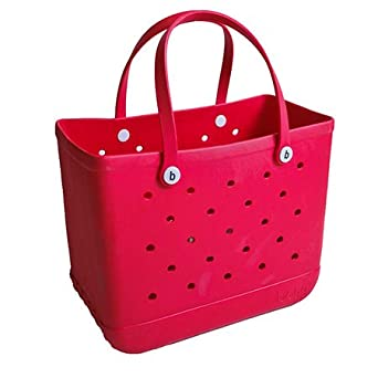 Bogg Bag Large Beach Tote and Everything Bag (Large, you RED my bogg)