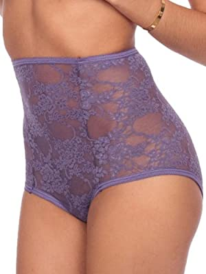 American Apparel Nylon Spandex Stretch Floral Lace High-Waist Brief by American Apparel