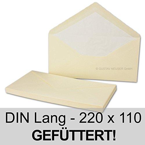 50-briefumschlage-ivory-din-lang-mit-gehammerter-oberflache-gefuttert-mit-seidenpapier-80-g-m-220-x-