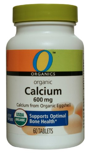 O Organics Calcium 600 mg Tablets, 60-Count Bottle