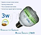 IFITech Smart Bulb - 3W, Auto turn ON and OFF with motion in the dark