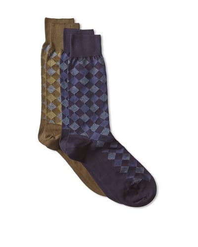 Punto Men's Cotton Blend Socks (2 Pairs)