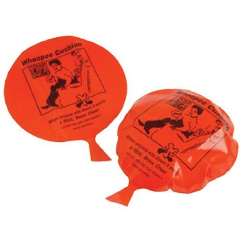 "Set Of 2 Plastic Classic Whoopee Cushions 6.5"" - 1"