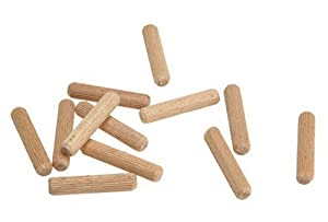 "Wolfcraft 2960405 1/4"" Fluted Wood Dowel Pins - 36 Pieces"