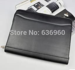 New hot 2016 Genuine leather A4 Business manager clip multi functional conferance and office leather folder