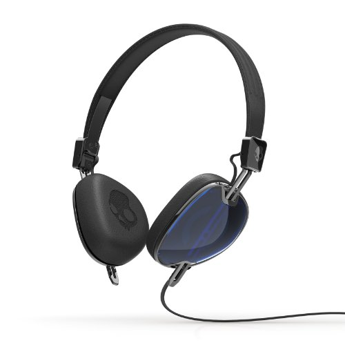 Skullcandy Navigator Headphones with Mic, (Blue/ Black)