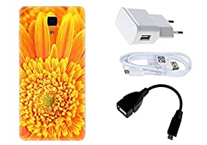 Spygen Xiaomi Mi4i Case Combo of Premium Quality Designer Printed 3D Lightweight Slim Matte Finish Hard Case Back Cover + Charger Adapter + High Speed Data Cable + Premium Quality OTG