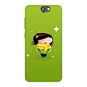 Laughing Cute Girl Print Back Case Cover for HTC One A9