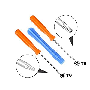 2 Pcs Replacement LB RB Bumpers Buttons Triggers Repair Parts+Opening Tools T8 T6 Screwdriver for Xbox ONE Elite Controller Gamepad(2 PCS LB RB Bumpers) (Color: 2 PCS LB RB Bumpers)