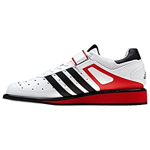 ADIDAS Power Perfect II Botas de Halterofilia, Blanco/Rojo/Negro, 44
