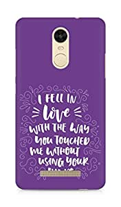 Amez I fell in Love with You Back Cover For Xiaomi Redmi Note 3